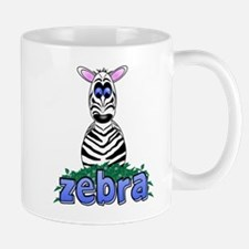 Cartoon Zebra Small Mugs