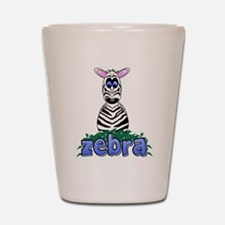Cartoon Zebra Shot Glass