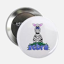 """Cartoon Zebra 2.25"""" Button"""