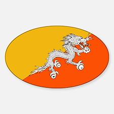 Flag of Bhutan Oval Decal
