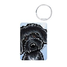 Black Labradoodle Funny Keychains
