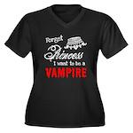 Twilight Princess Women's Plus Size V-Neck Dark T-