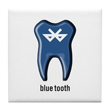 blue tooth bluetooth Tile Coaster