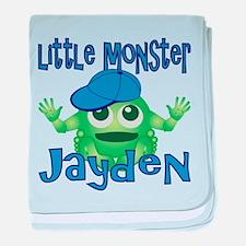 Little Monster Jayden baby blanket