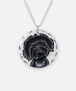 Black Labradoodle Funny Necklace