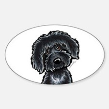 Black Labradoodle Funny Decal