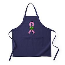 Pink Shamrock Ribbon Apron (dark)