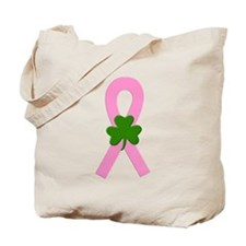 Pink Shamrock Ribbon Tote Bag