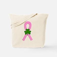 Pink Shamrock Ribbon Tote Bag
