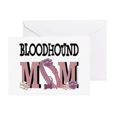 Bloodhound MOM Greeting Card