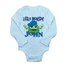 Little Monster John Long Sleeve Infant Bodysuit