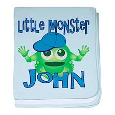 Little Monster John baby blanket