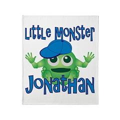 Little Monster Jonathan Throw Blanket