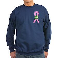 Pink Shamrock Ribbon Sweatshirt