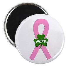 Pink Shamrock Ribbon Magnet