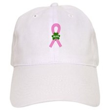 Pink Shamrock Ribbon Baseball Cap