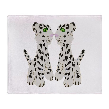 Snow Leopards Throw Blanket