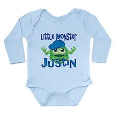 Little Monster Justin Long Sleeve Infant Bodysuit