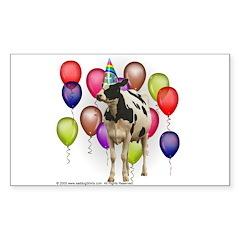 Cow Dairy Farm theme birthday Decal