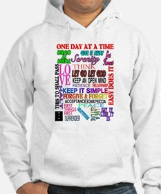 12 STEP SLOGANS IN COLOR Hoodie