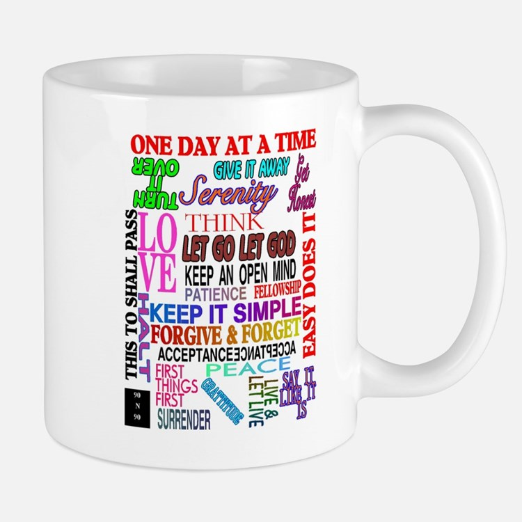 12 STEP SLOGANS IN COLOR Small Small Mug