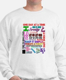 12 STEP SLOGANS IN COLOR Sweatshirt