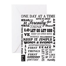 12 STEP SLOGANS Greeting Cards (Pk of 10)