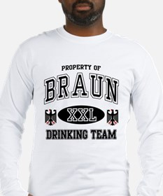 Braun German Drinking Team Long Sleeve T-Shirt