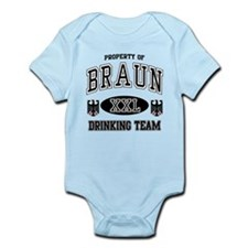 Braun German Drinking Team Infant Bodysuit