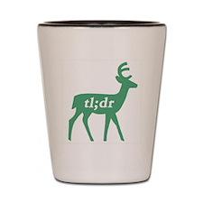 Teal Deer Shot Glass
