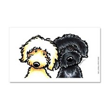 Black Golden Doodles Car Magnet 20 x 12
