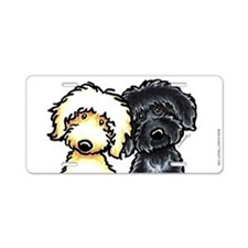 Black Golden Doodles Aluminum License Plate