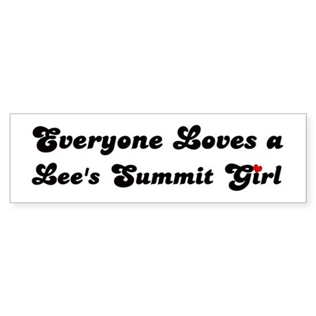 Loves Lee's Summit Girl Bumper Sticker