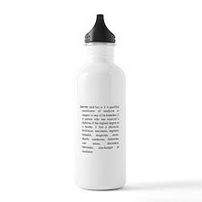 Doctor Definition Water Bottle