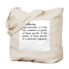 Specificity Definition Tote Bag