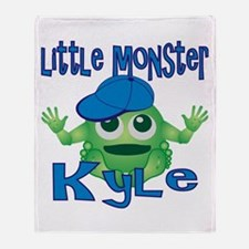 Little Monster Kyle Throw Blanket