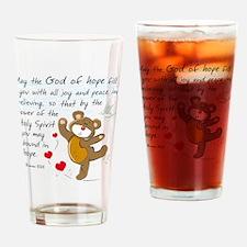 Teddy Bear Christian Drinking Glass