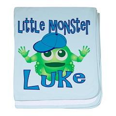 Little Monster Luke baby blanket