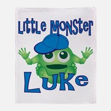 Little Monster Luke Throw Blanket