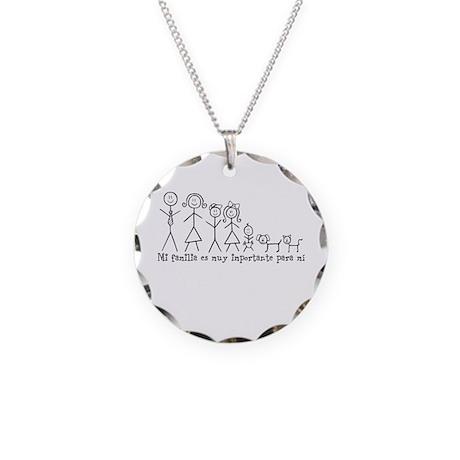 Mi familia es muy importante Necklace Circle Charm