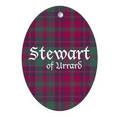 Tartan - Stewart of Urrard Ornament (Oval)