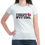 Everyone Loves a NYC Girl Jr. Ringer T-Shirt
