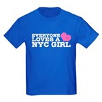 Everyone Loves a NYC Girl Kids Dark T-Shirt