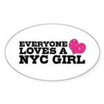 Everyone Loves a NYC Girl Sticker (Oval)
