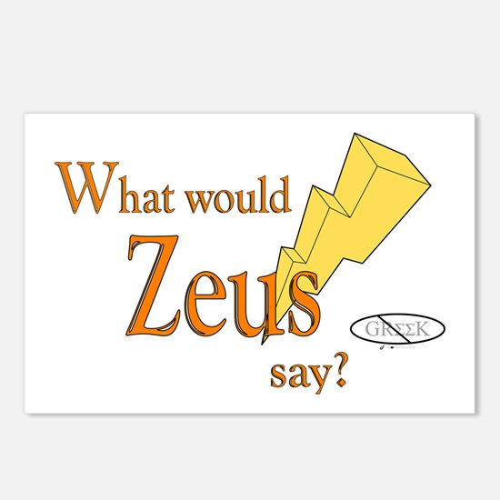 What would Zeus say? Postcards (Package of 8)