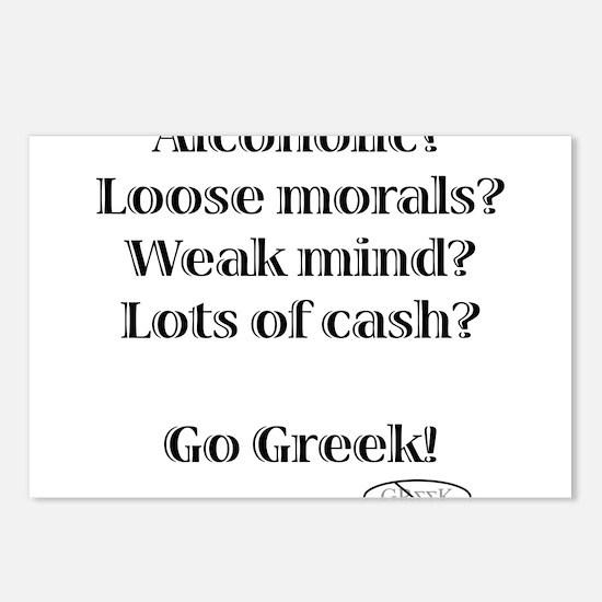 Go Greek! Postcards (Package of 8)