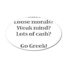 Go Greek! 22x14 Oval Wall Peel