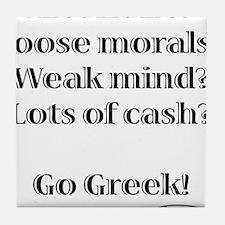 Go Greek! Tile Coaster