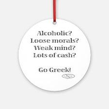 Go Greek! Ornament (Round)