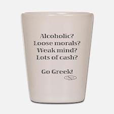 Go Greek! Shot Glass